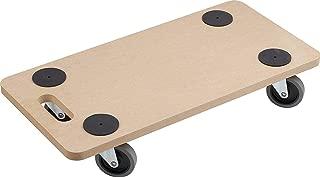 Metafranc Transportroller 590 x 290 mm - 200 kg Tragkraft - MDF-Platte - TPE-Räder / Möbelroller / Transporthilfe für Umzug / Rollwagen für Möbel-Transport / Kistenroller aus Holz / 821300