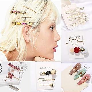 パールヘアピンヘアアクセサリー装飾 - 手作りヘアクリップクリエイティブセット小さな新鮮なヘアクリップセット雰囲気ロマンチックなファッションワードクリップBBクリップ