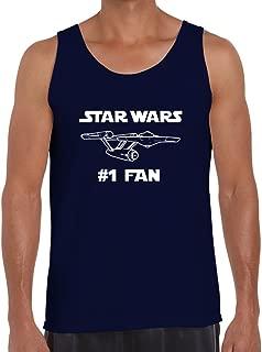 BBT Mens Funny Star Wars #1 Fan Star Trek Tank Top