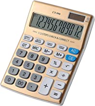 $32 » MTFZD CT-990 Solar Calculator, Office Financial Student Stationery Calculator, Suitable for School, Home, Business Office...