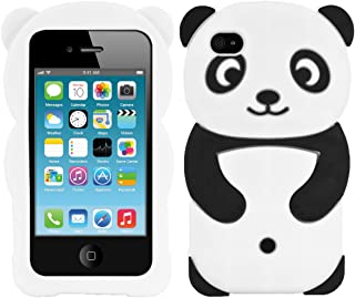 kwmobile Panda Silicone Case for Apple iPhone 4 / 4S - Soft Silicone Gel Protective Cover with Cute Design
