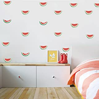 HACASO 36 PCS 1.7 by 3.3 Inches Cute Watermelon Wall Decal Sticker For Kids Bedroom Decor -DIY Home Decor Vinyl Watermelon Mural Baby Nursery Room Wallpaper