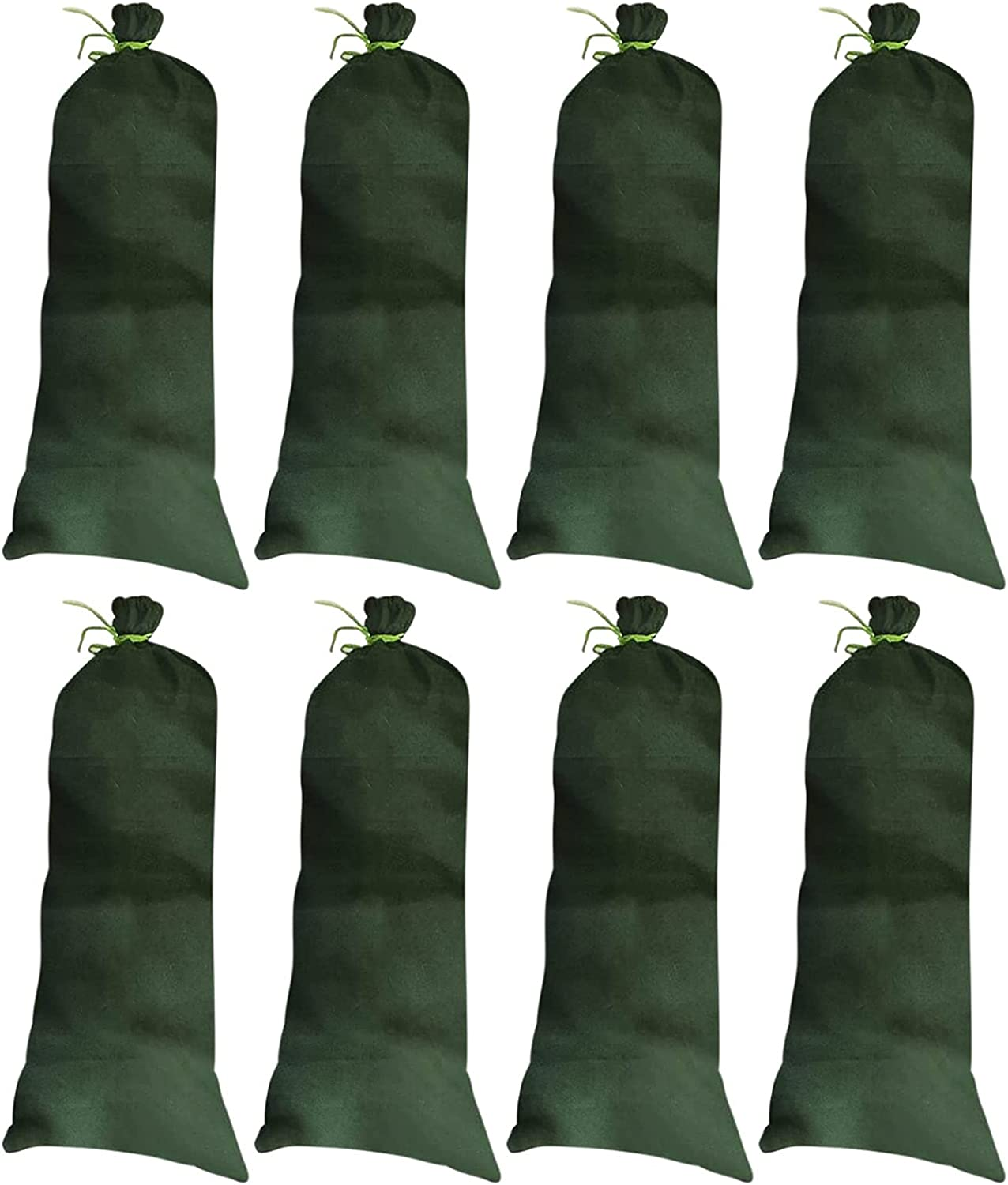 Empty Green Sandbags with Ties Woven Beauty products Polypropylene Sand Bundle B Max 59% OFF