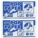 タウパー ポップペーパー L 大判・厚手タイプ 150枚×2個セット [白]