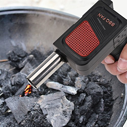 バーベキューファン電池式火起こしガンブロー火おこし電動送風機BBQ料理ツール