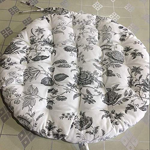 JY&WIN Hanging Chair Cushions, Comfortable Papasan Chair Cushion, Egg Nest Round Chair Cushion, Tatami Floor Seat Cushion L 120x120cm (47x47inch)