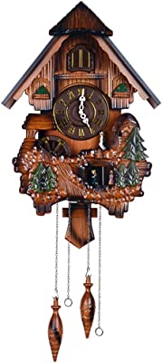 Wall Clock European Clock Solid Wood Childrens Clock Pendulum Clock Creative Living Room Decoration Clock Time