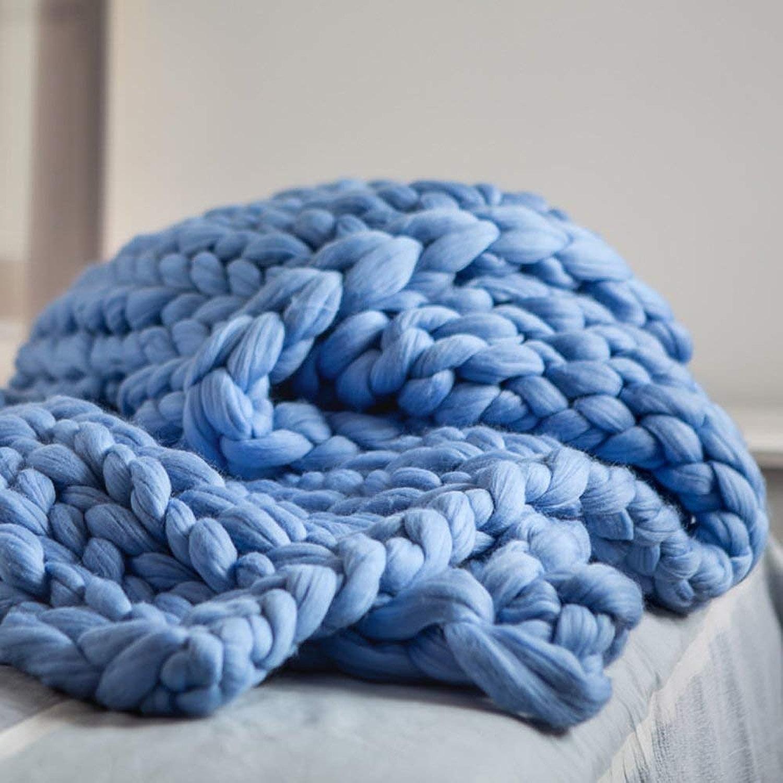 FRHLH Cadeau Parfait, Couverture Acrylique tricotée, Ensemble de draps pour canapé à la Main Fait Main surdiPour des hommesionné-C-100  150