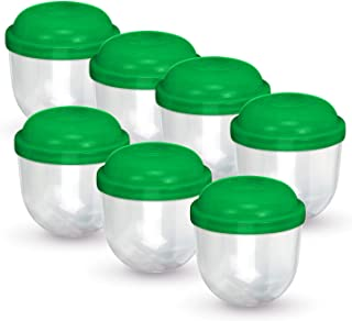 Entervending Empty Plastic Capsules 2 inch Large Acorn Capsule for Kids Bulk 50 Count Green Surprise Containers for Toys Party Favor Prize Storage for Small Toy