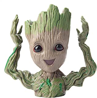 Baby Groot Guardians of The Galaxy Flowerpot Succulent Plants Planter with Drainage Hole Pen Holder