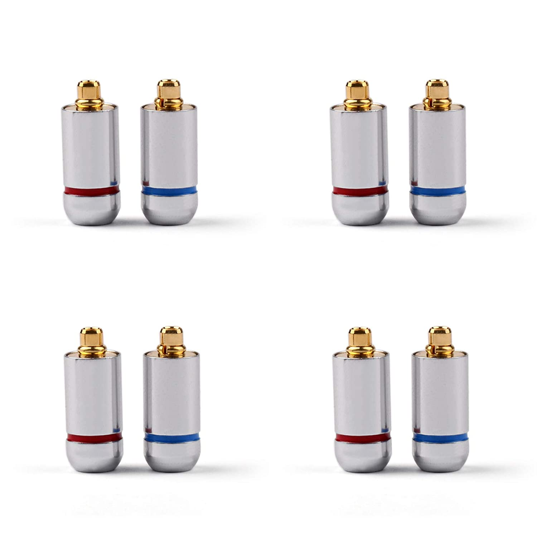Areyourshop 4Set Earphone DIY Pin Connector Plug for MMCX UE900 SE535 SE215 W10 20 30 Blk