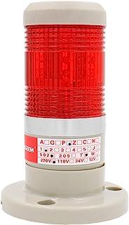 Heschen Bombilla LED de Advertencia de la Luz de la Torre de la Luz de la Señal de la Luz 220V AC Rojo 2 Cables