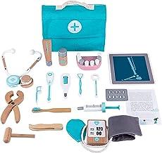 مجموعة ألعاب طبية للأطفال من أدوات الطبيب التظاهري لأطباء الأسنان، تحتوي على 18 قطعة من ألعاب طبيب الطبيب والتعلم المبكر م...