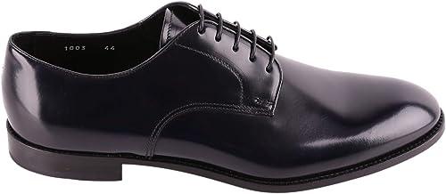 DOUCAL'S Homme DU1003YORKUF028NB00 Noir Cuir Chaussures à Lacets