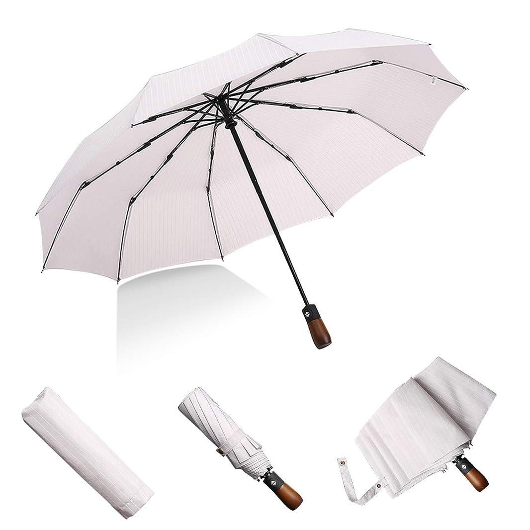 関連付ける信者平らなLB 傘 メンズ傘 大きい 折りたたみ傘 自動開閉 紳士傘 コンパクト 軽量 丈夫 高強度10本骨 撥水耐風 梅雨対策 晴雨兼用 男女兼用 直径105cm