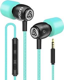 LUDOS Clamor Auriculares con Micrófono y Cable, Cascos Espuma de Memoria, Cable Reforzado, Graves y Control de Volumen Ear...