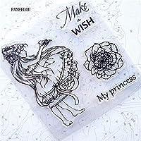 花の妖精透明なクリアシリコーンスタンプ/シールDIYスクラップブッキング/フォトアルバム装飾的なクリアスタンプシート