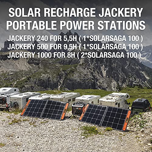 Jackery-SolarSaga-100W-Portable-Solar-Panel-for-Explorer-2405001000-Power-Station-Foldable-Monocrystalline-Solar-Cell-Solar-Charger-with-USB-Outputs-for-Phones-Off-grid-Home
