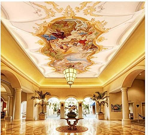 HGFHGD 3D Ceiling Deluxe Wallpaper Color Painting Living Ce Stereo New York Mall Room
