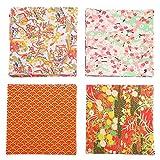 jojofuny 4 Juegos de Hojas de Papel Origami Cuadrado Japonés Yuzen Papel Artesanal Grúa Origami Artes Papel Plegable para Niños Adultos Creatividad 10. 5X10. ¡5X0! 1CM