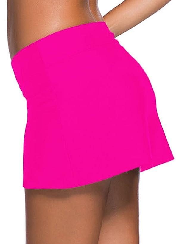 Itsmode Women's Swim Skirt Plus Size Board Short Tankini Bottom S-XXXXL