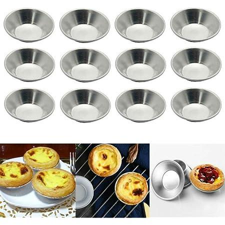 25Pcs Non-Stick Egg Tart Mold Cupcake Cake Mini Pie Muffin Pan Baking Tool Molds