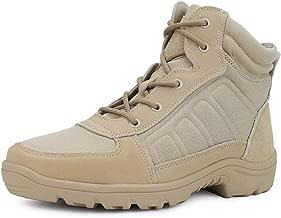 أحذية طويلة طويلة طويلة للرجال ذات الرقبة العسكرية حتى الكاحل قابلة للتنفس في الصحراء التنزه التكتيكي