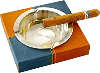 MCGMXG Ashtray Stainless Steel Tabletop Ashtray Home Office Decoration -17cm×17cm×4cm Ashtray (Material : B)