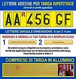 Grafilandia Targa ripetitrice per rimorchi e carrelli appendice, corredata di Lettere e Nu...