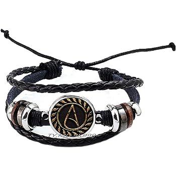 Yao0dianxku Glass Bangle Bracelet Charming Jewelry Chain Pagan Satan Bracelet for Women Men Gift.Y074