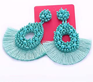 Beaded Drop Women Wedding Earrings Bohemian Drop Dangle Earring