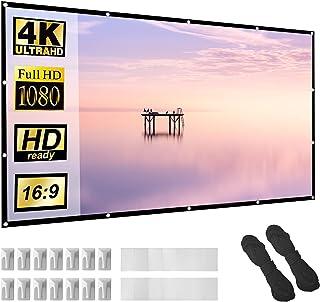 """Projectorscherm 100 """"16:9 HD Opvouwbaar Anti-Crease Draagbare Projectie Films Scherm voor Home Theater Outdoor Indoor Onde..."""