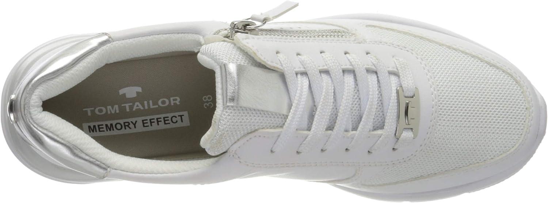 TOM TAILOR Women's 8091706 Sneaker White 00002 74x8yo