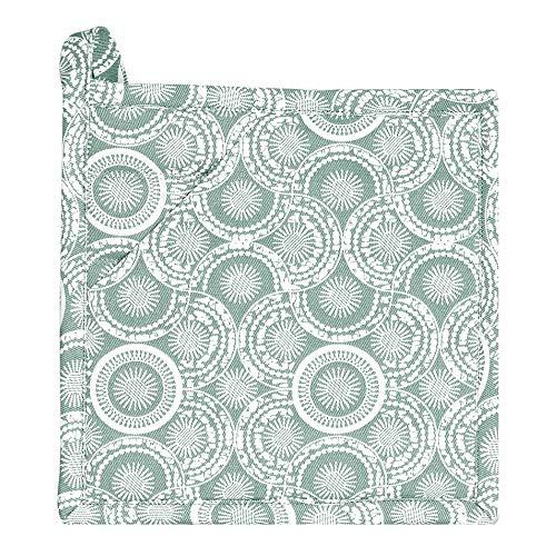 Winkler - Manique carrée Eline – 20x20 cm – Protection 100% coton contre la chaleur de cuisson – Dessous de plat avec crochet d'attache