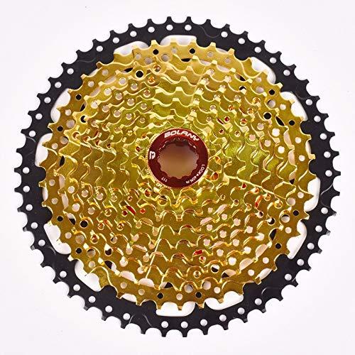 Dorado 10 velocidades 11-42T/11-50T Cassette Volante de Bicicleta Rueda de Acero de Bicicleta de montaña Rueda Dentada Piezas de Bicicleta,Adecuado para XT M8000 SLX M7000 NX GX,10-Speed 11-50T
