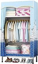 HN Wardrobe, Cloth Wardrobe Assembly Cloth Wardrobe Simple Wardrobe Double Wardrobe Bold Reinforcement Storage Cabinet (Si...