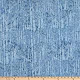 Island Batik 0649369 Icicle Snow Trees Engle Fabric Stoff,
