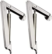 Douper 200N Gas Struts Heavy Duty Soft Close Lid Support Hinges Automatic Slow Lowering Safety Pneumatic Lid Lifters Gas Springs Pack of 2