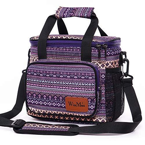 winmax Sacs Isotherme Repas Lunch Box Bag Portable Sac à Déjeuner Sac Fraîcheur Sac de Pique-Nique pour École/Travail/Familie/Hommes/Femmes/Fille