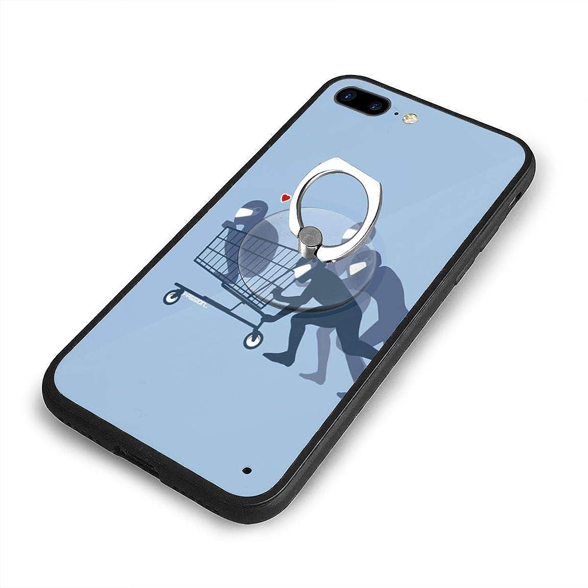 複合小競り合い苛性ユーモアiPhone 7/8 Plusケースリングブラケット 携帯カバー 創意デザイン軽量 傷つけ防止 360°回転ブラケット 携帯ケース PC 衝撃防止 全面保護