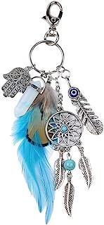 Dream Catcher Keychain Fashion Silve Boho Ornament Feather Key Ring