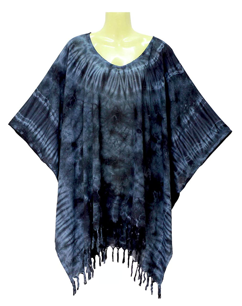 ATM Kaftan Caftan Poncho Tops Blouse Real Handmade Tie dye Plus Size