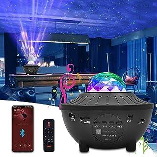 Projecteur Ciel Étoilé, Newlemo Lampe Projecteur LED avec Télécommande, Haut-Parleur Bluetooth et Minuterie - 10 Couleurs,...