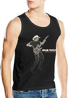 Sunyuer Divertente Man's Brad Paisley Hits Alive Canotta alla Moda Senza Maniche in Cotone con Banda Musicale in Cotone
