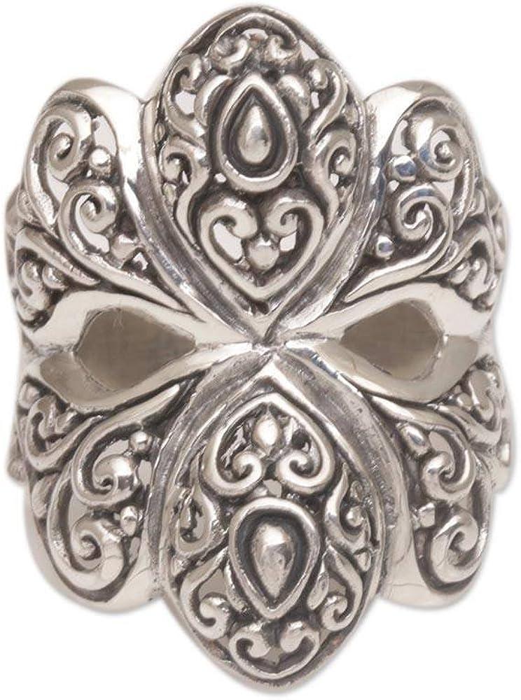 期間限定送料無料 NOVICA .925 Sterling Silver 'Butterfly Cocktail ショッピング Ring Glory'