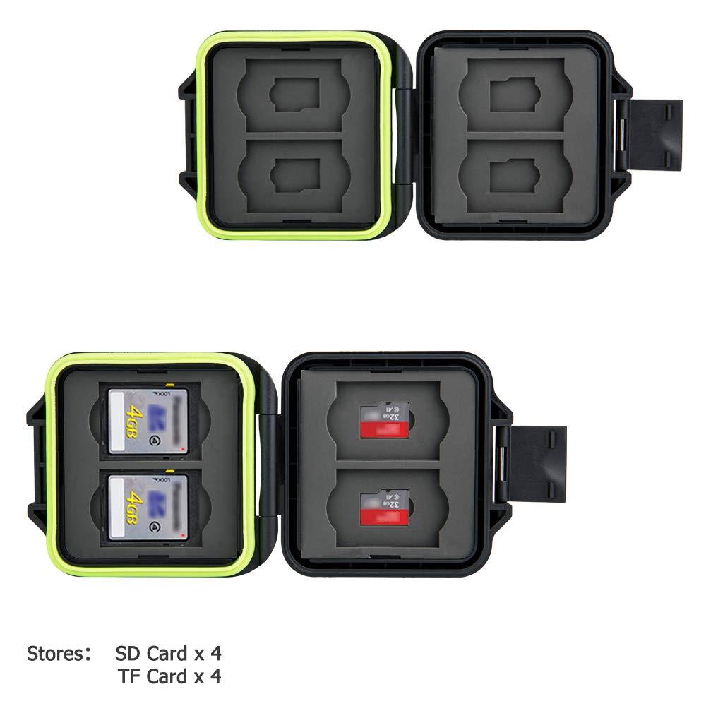 8 Ranuras SD Micro SD Tarjetero Organizador de Almacenamiento con ...