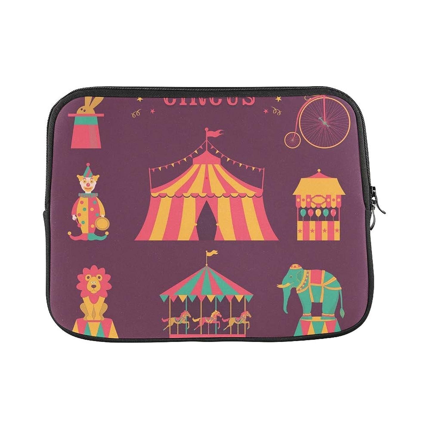 Design Custom Circus Set Tent Rabbit Hat Clown Sleeve Soft Laptop Case Bag Pouch Skin for MacBook Air 11