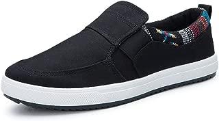 [50dB] カジュアル スニーカー スリッポン ネイティブ柄 刺繍 5色展開(黒、灰、茶、ネイビー、白