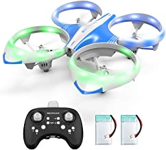 $31 » Mini Drone for Kids Adults - LED Mini RC Nano Helicopter 2.4G 6-Axis Gyro Drone for Kids & Beginners with Altitude Hold, Infrared Sensing, 3D Flips, RTF One Key Take Off丨Landing Boys Girls Gift Toys
