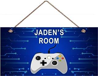 Sponsored Ad - ROONASN Bedroom Door Gaming Sign, Playroom Bedroom Decoration, Game Wooden Sign Hanging Gamer Wooden Plaque...